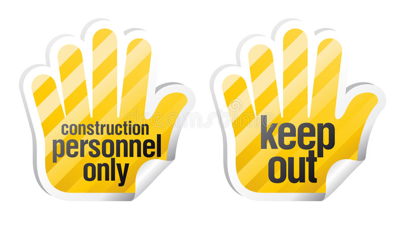 Download Keep out palm stikers stock vector. Image of office, board - 16466389