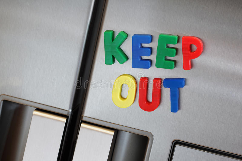 Download Keep out the refrigerator stock image. Image of handle - 27959613