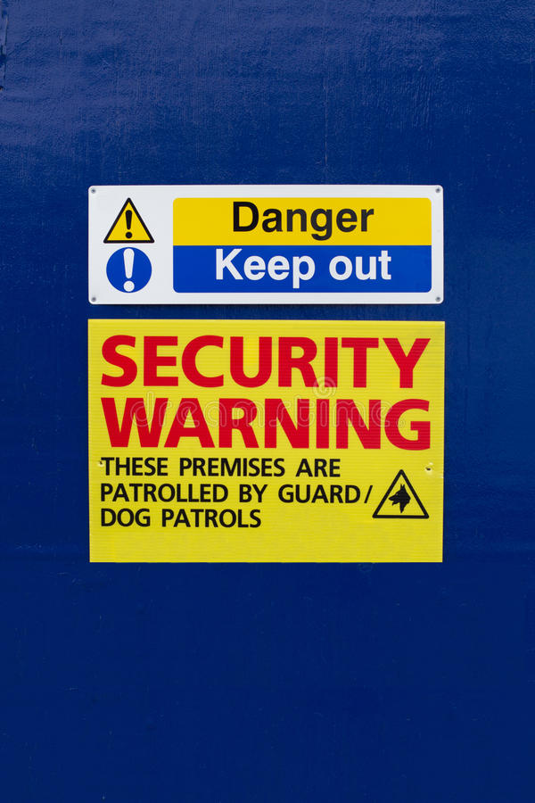 Download Keep Out Security Warning Sign Stock Photography - Image: 18415072