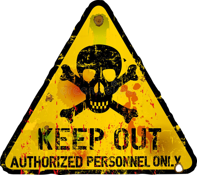 Free Keep Out Sign, Warning Royalty Free Stock Photo - 37880685
