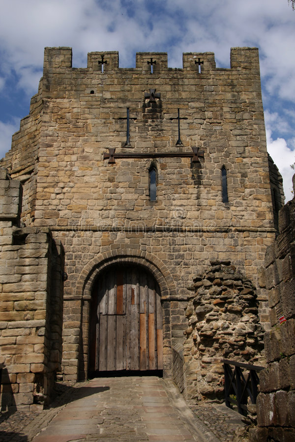 Keep at Prudhoe Castle stock photos