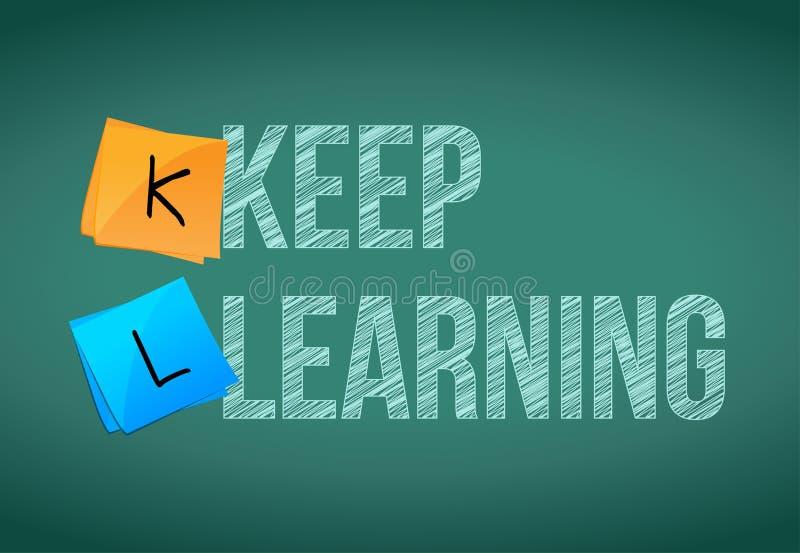 Keep que aprende concepto de la educación stock de ilustración