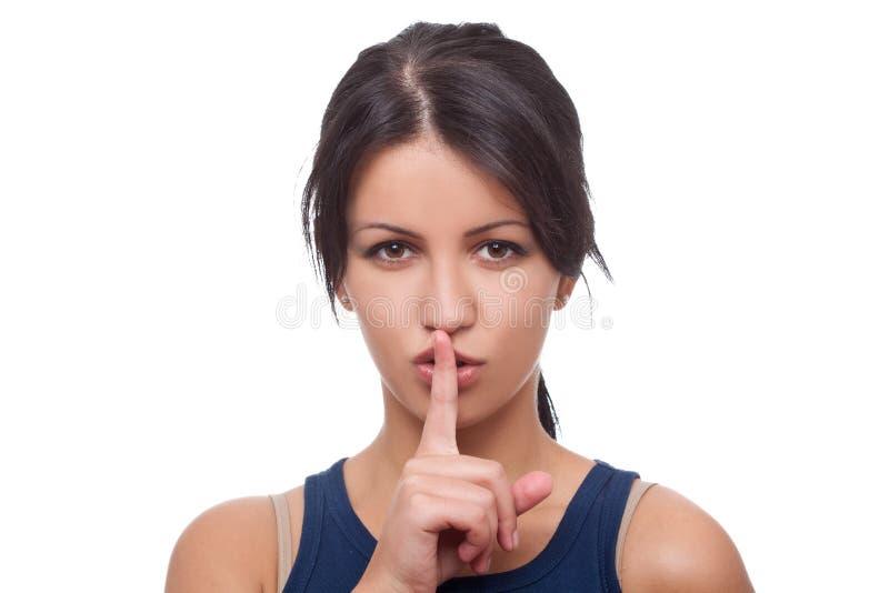 Keep it quiet stock images