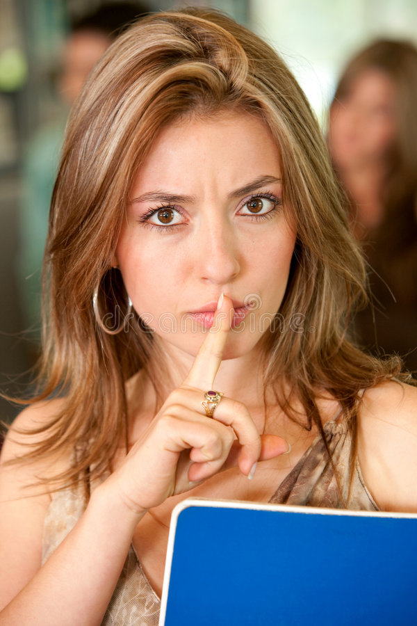 Download Keep it quiet stock photo. Image of people, silence, college - 7935736