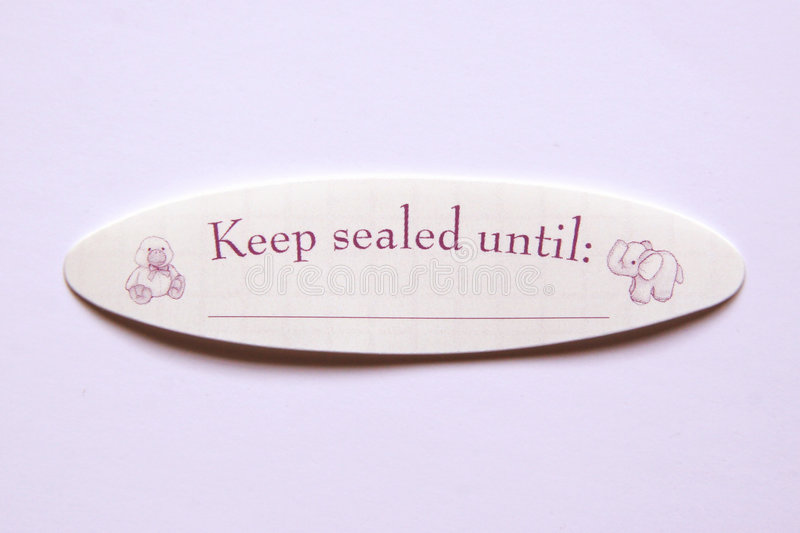 Download Keep Sealed Until Sticker Stock Photos - Image: 194033