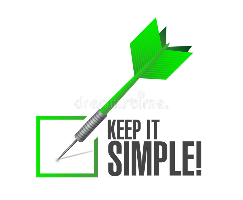 keep it simple check dart sign illustration stock illustration