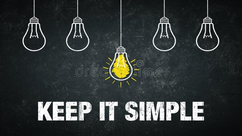 Keep it simple royalty free illustration