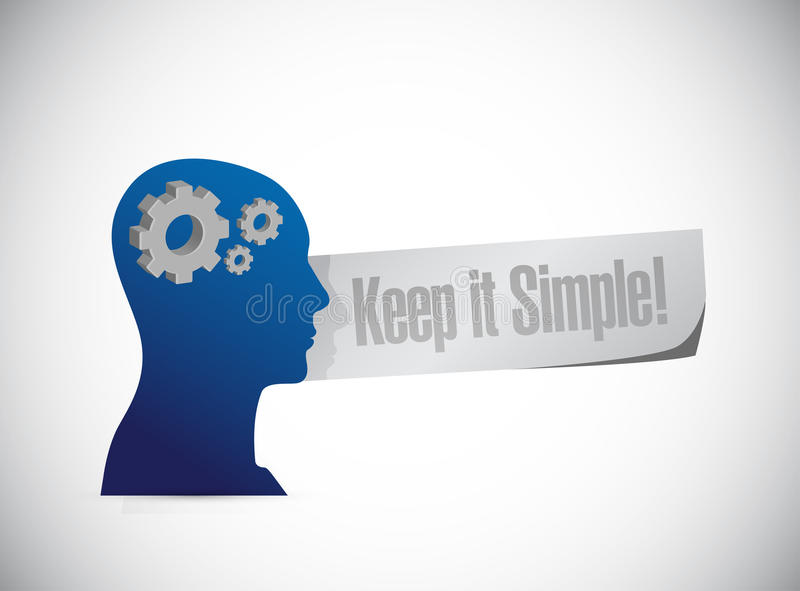 keep it simple thinking concept sign royalty free illustration