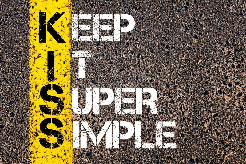 Keep It Super Simple - KISS Concept stock illustration