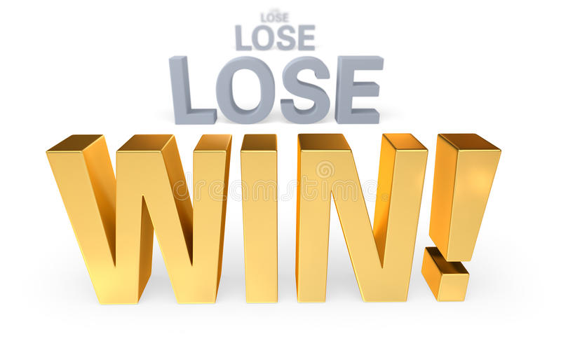 Download Keep Trying And Win! stock illustration. Illustration of triumph - 32012875