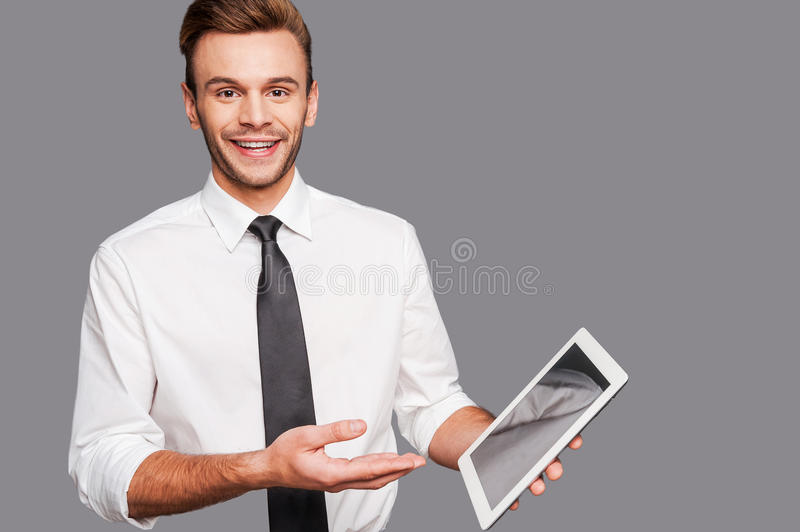Keep up with technological progress. royalty free stock image