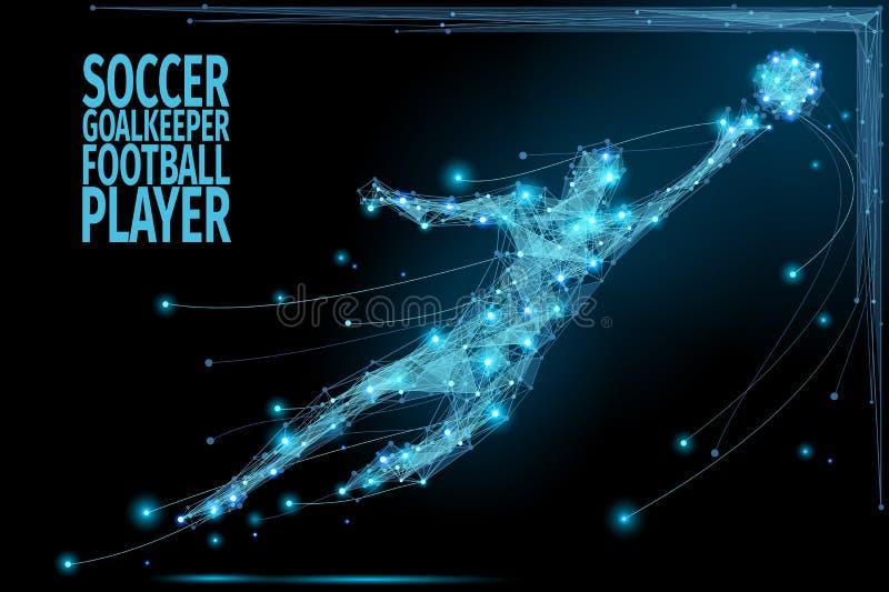 Keeper polyvoetbal vector illustratie