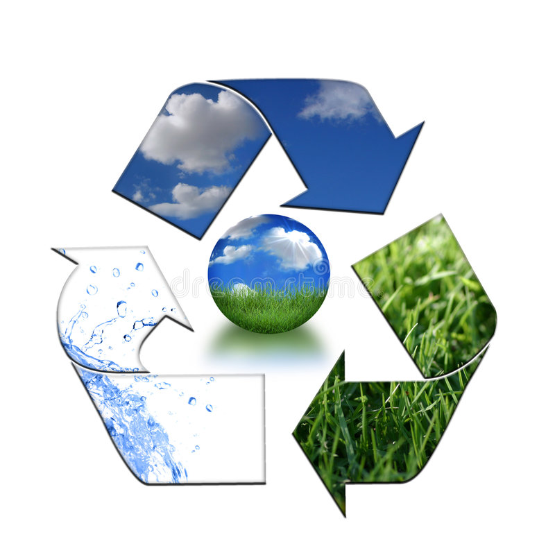 Keeping the Environment Clean With Recycling stock illustration