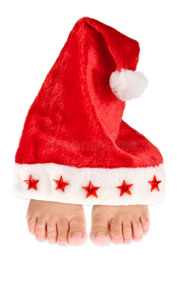 Download Keeping your feet warm stock photo. Image of santa, hats - 11075548