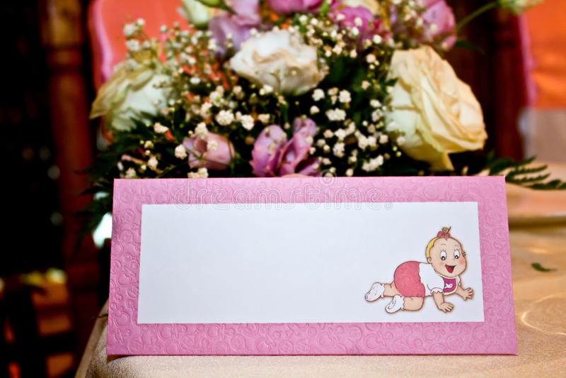keepsake подарка крышки christening стоковые изображения