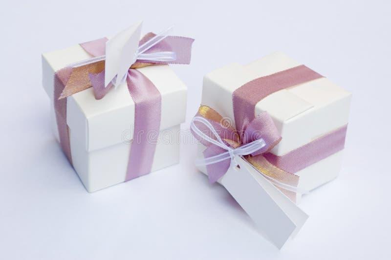 Keepsake di cerimonia nuziale - regalo fotografia stock libera da diritti