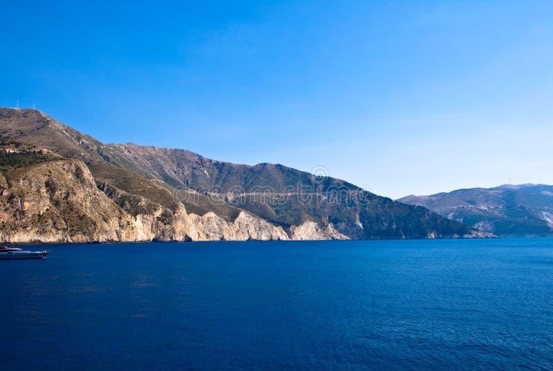 Kefalonia海岸,希腊 免版税库存图片