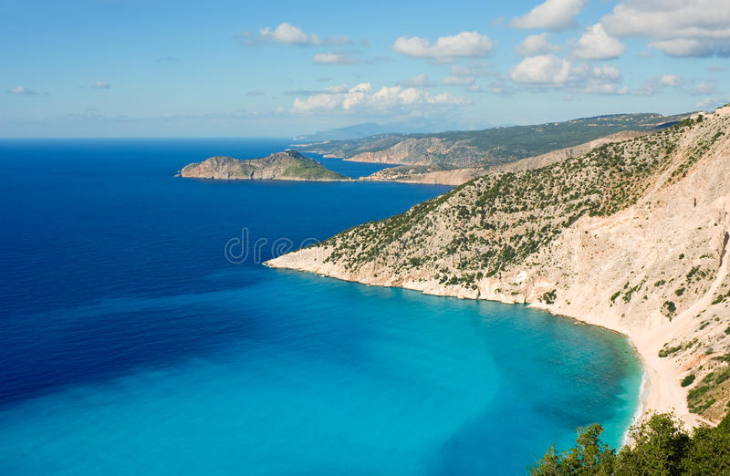 Download Kefalonia coastline stock image. Image of island, greece - 20582427