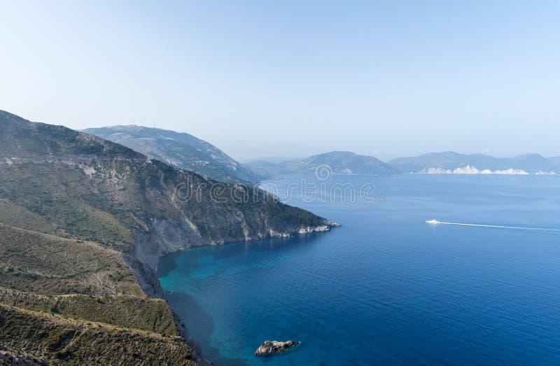 Kefalonia, paysage de littoral de la Grèce images libres de droits