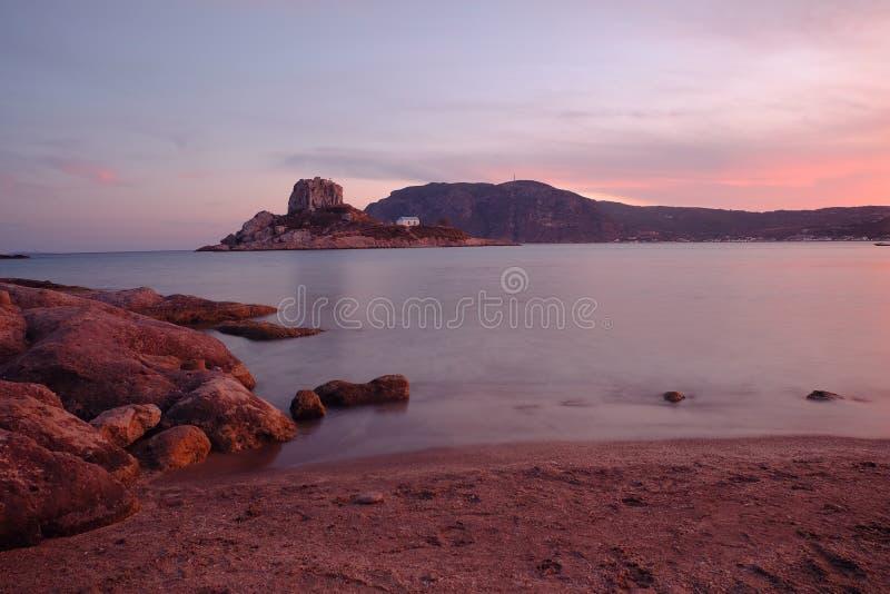 Kefalos Bay at Dusk stock photos