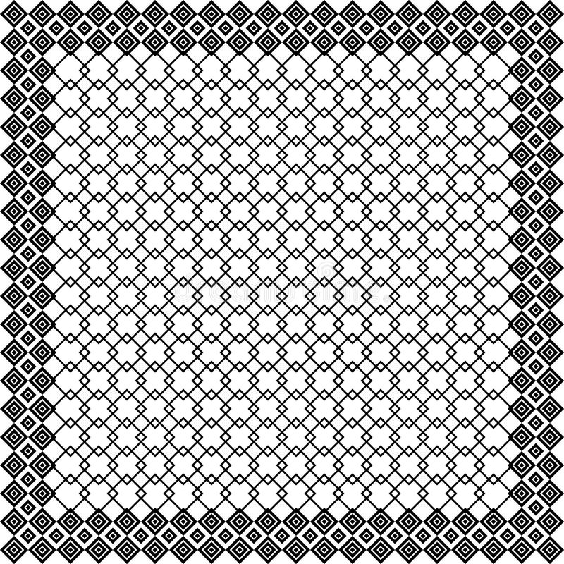 Keffiyeh preto e branco para homens o templat do vetor de Médio Oriente ilustração do vetor