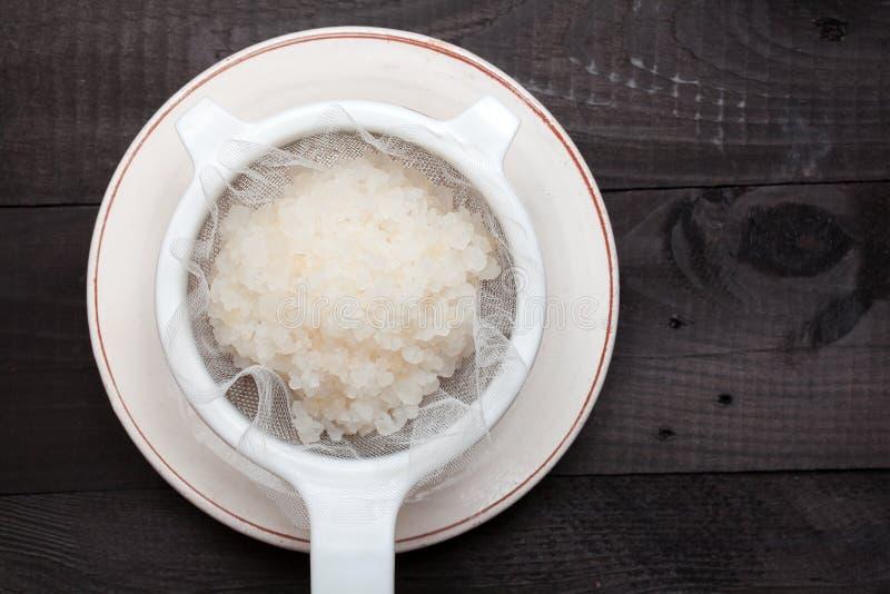 Kefir νερού σιτάρια στοκ εικόνα