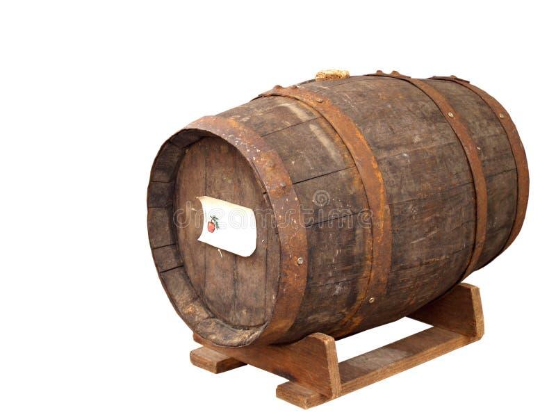 Keg. Old wooden keg image isolated on white stock photos