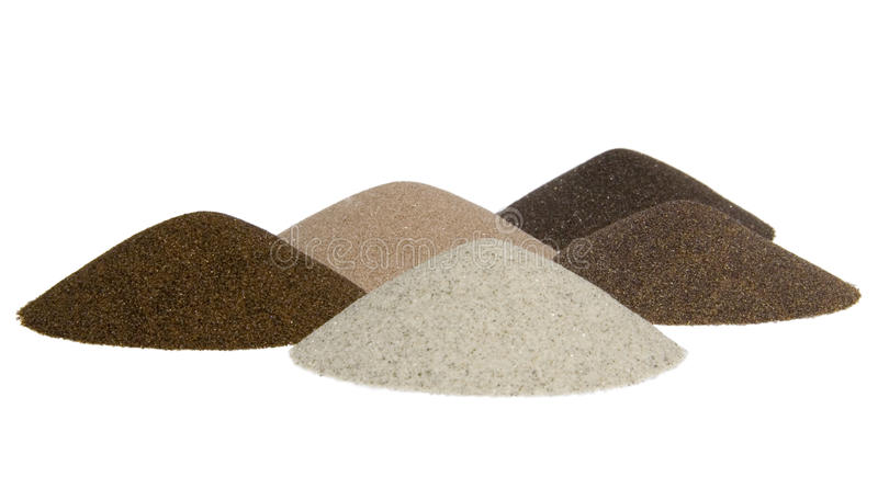 Kegel des Sandes - Mineralien der Minenindustrie lizenzfreies stockbild
