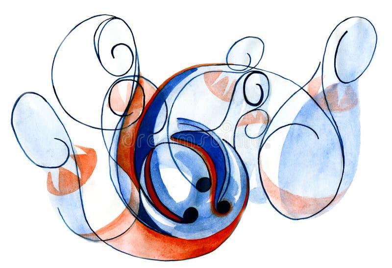 kegelen vector illustratie