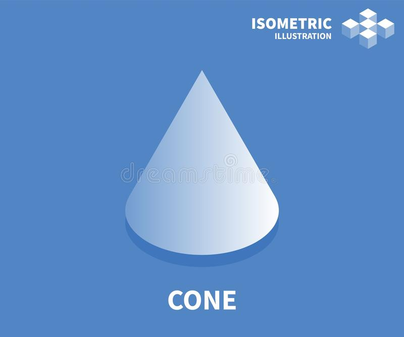 Kegelikone Isometrische Schablone für Webdesign in der flachen Art 3D Auch im corel abgehobenen Betrag stock abbildung