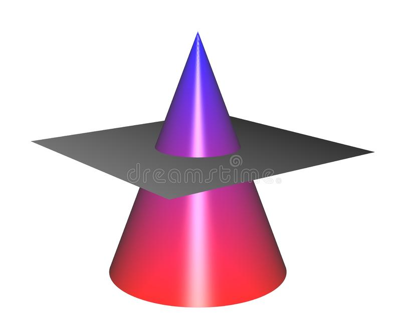Kegelsecties: Cirkel zonder Net vector illustratie