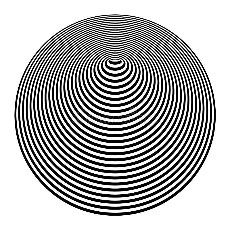 kegelvorm Cirkel en ovale lijnentextuur Op het element van het kunstontwerp royalty-vrije illustratie