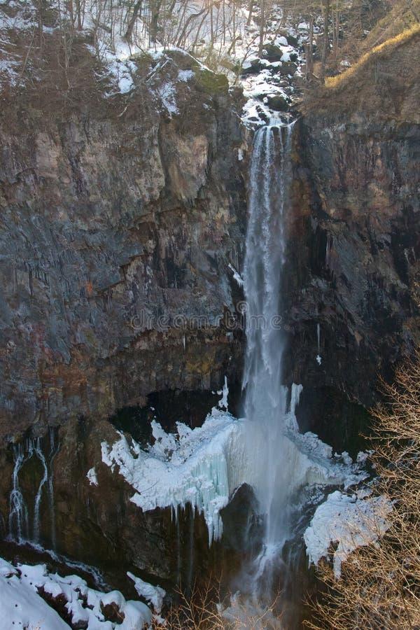 Kegon nedgångar i den Nikko nationalparken royaltyfri fotografi