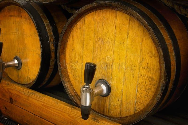 kegs wooden стоковая фотография