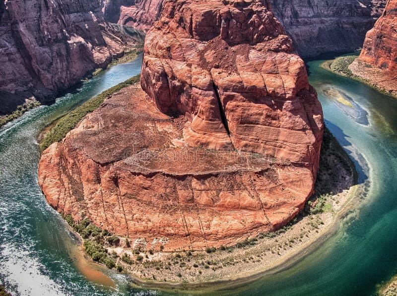 Kehre, Arizona. Wunderbare Vogelperspektive in der Sommersaison lizenzfreie stockfotos