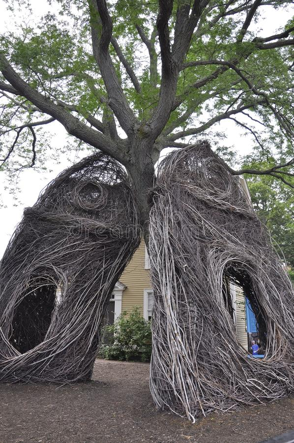 Kehren Sie Skulptur von Salem in Essex County Massachusettes Staat von USA lizenzfreies stockbild