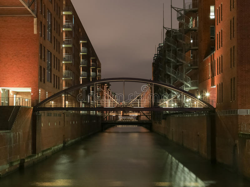 The Kehrwieder Bridge in Hamburg royalty free stock photography