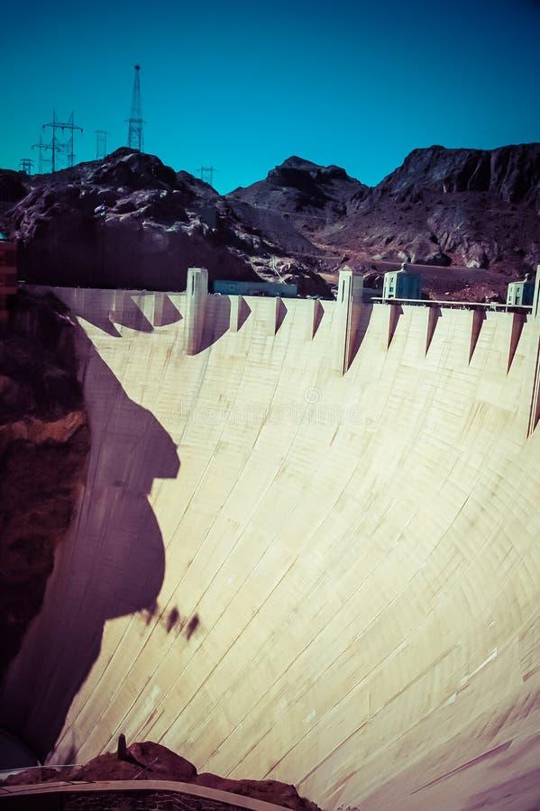 Keidam in de Rivier van Colorado, op de grens tussen de staten van de V stock foto
