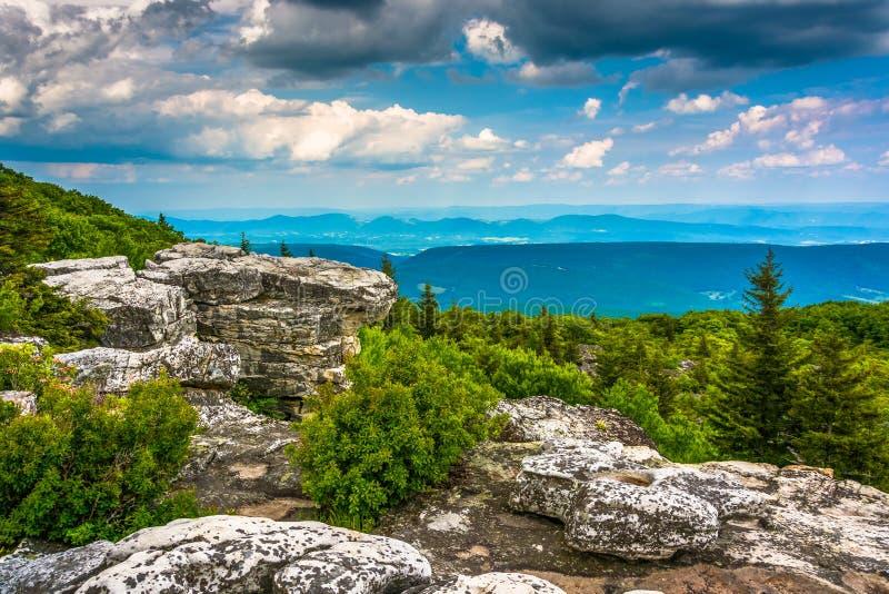 Keien en oostelijke mening van de Appalachian Bergen van Beer royalty-vrije stock foto's