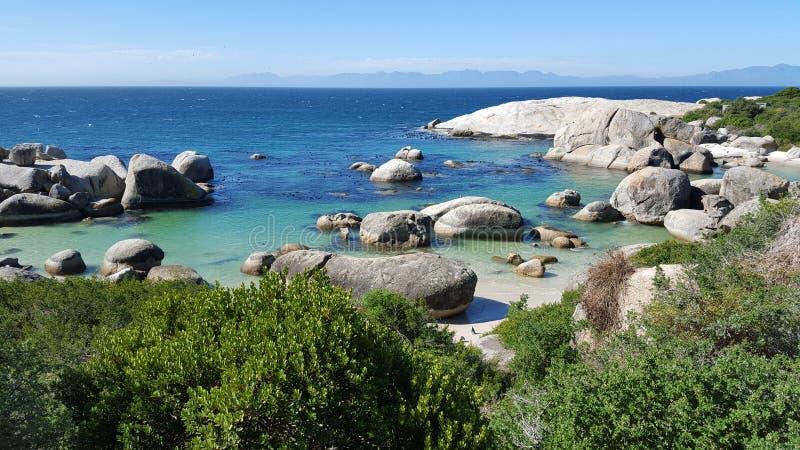 Keienstrand in Simonstown, Westelijke Kaap, Zuid-Afrika royalty-vrije stock foto