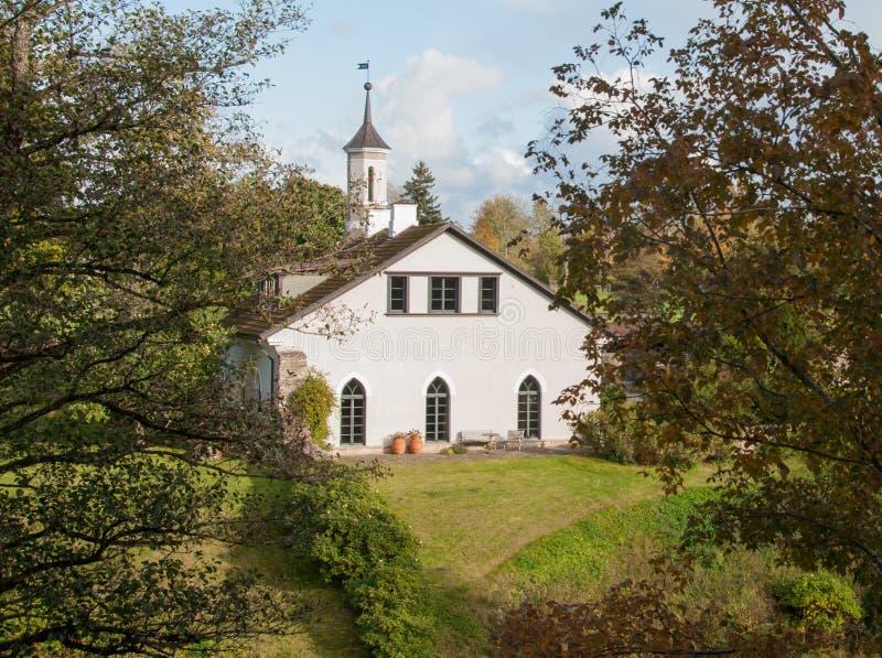 Keila-Joa rezydenci ziemskiej kuchni spojrzenia bardziej jak mała kaplica lub kościół zdjęcia royalty free