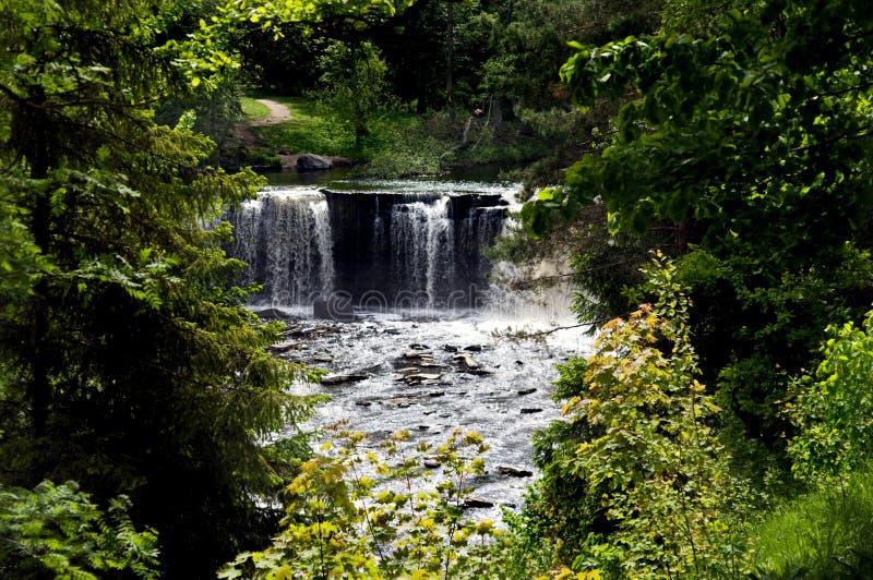 Keila Joa waterfall royalty free stock photo