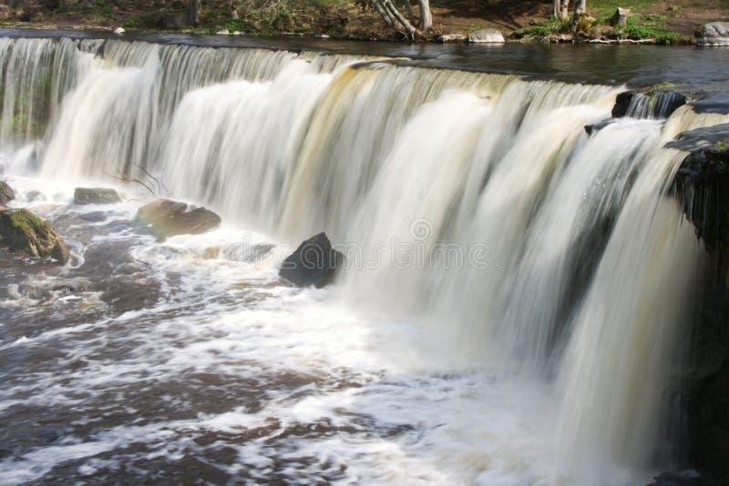 Keila-Joa waterfall. Scenic view of Keila-Joa waterfall, Keila river, Estonia royalty free stock images