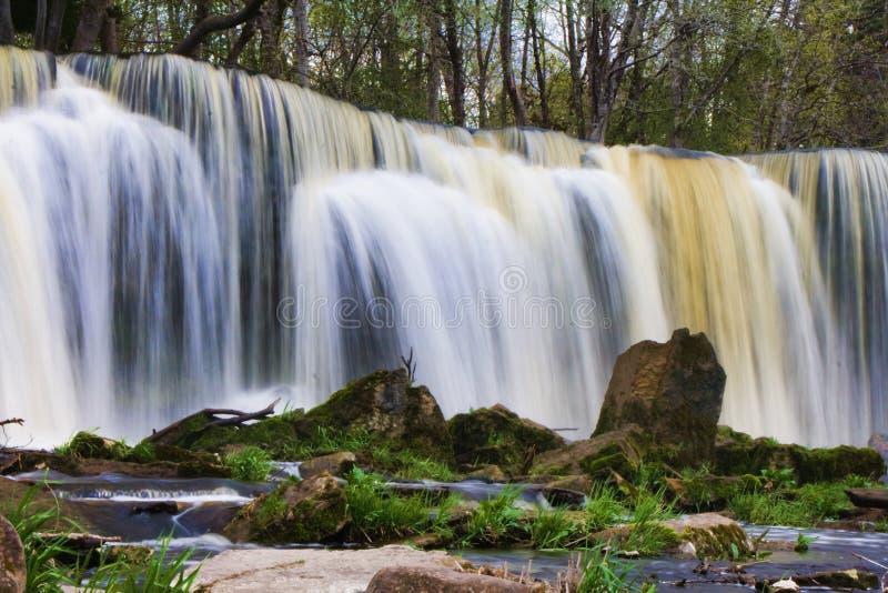 Keila-Joa waterfall. Water cascading down Keila-Joa waterfall, Estonia royalty free stock image