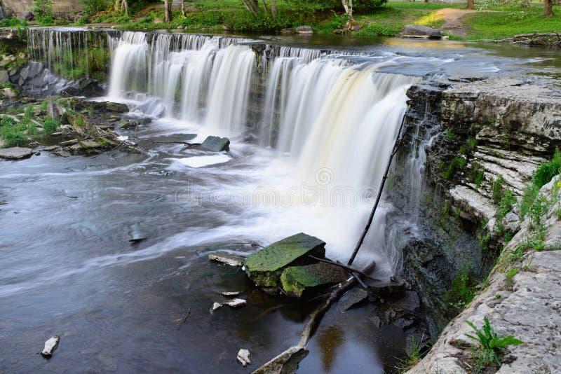 Keila-Joa waterfall long exposure stock image