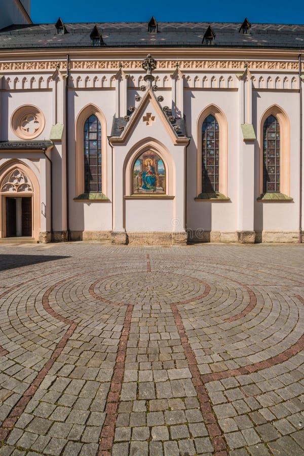 Keilabyrint voor St Nikolaus kerk, Rosenheim royalty-vrije stock afbeelding