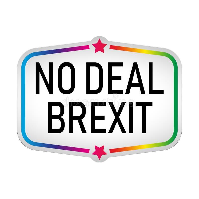 Kein Abkommen brexit Aufkleberikone Zusammenfassungs-Papiervektor in der Aufkleberart vektor abbildung
