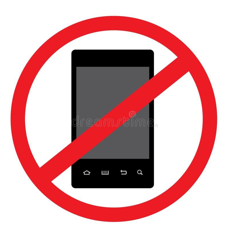 KEIN androider intelligenter Telefon-Vektor stock abbildung