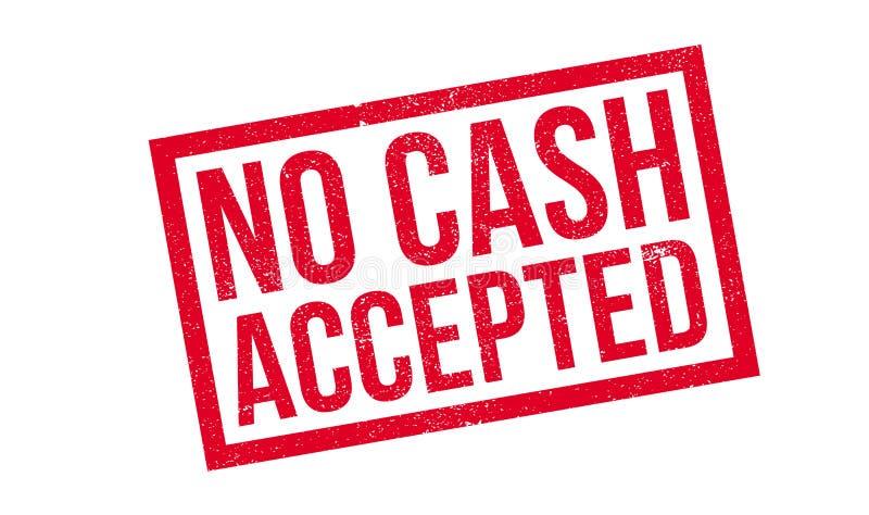 Kein Bargeld geltender Stempel lizenzfreie abbildung
