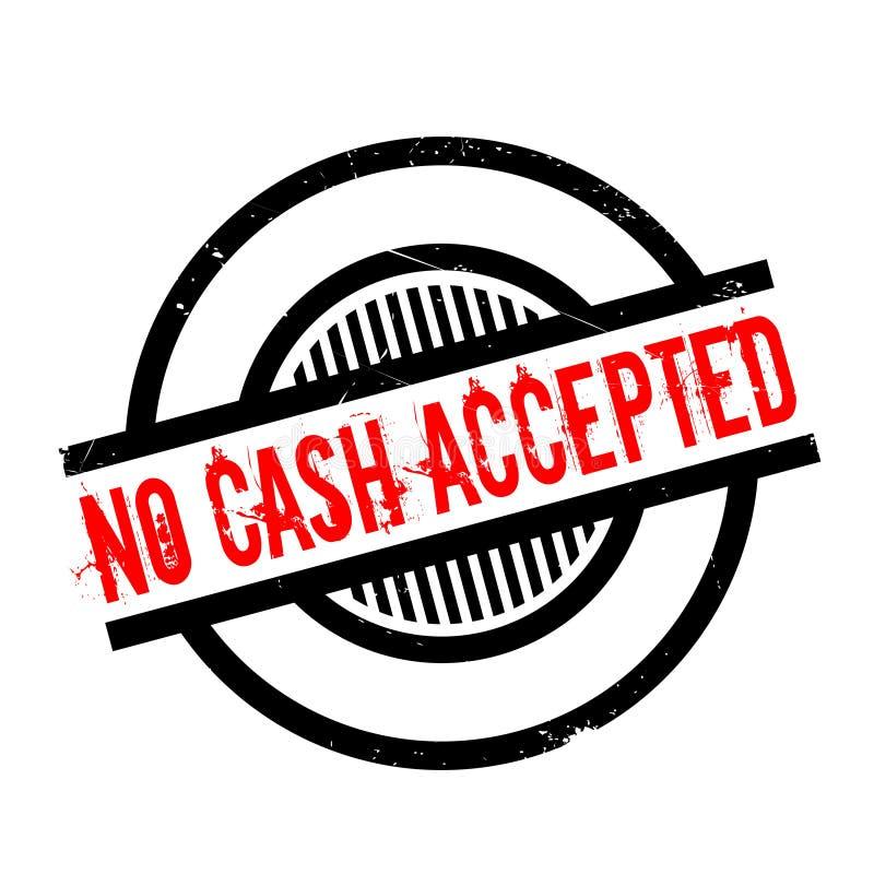 Kein Bargeld geltender Stempel stock abbildung